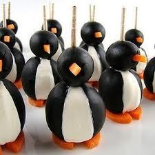 Канапе-пингвины