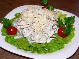 Праздничный салат с языком