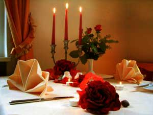 Романтический ужин при свечах
