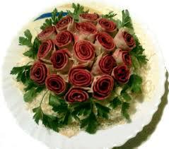Салат букет из роз