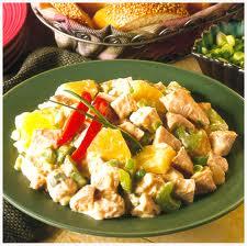 Салат индейка с ананасом
