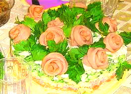 салат-торт романтика вечера