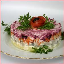 Торт салат сельдь под шубой