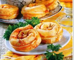 Закуска улитки из блинов
