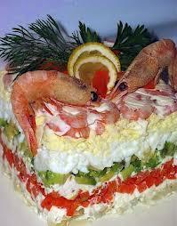 Креветочный салат-торт