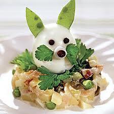 Салат заяц на полянке